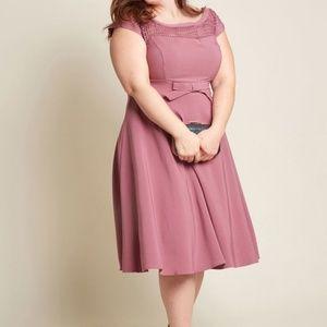 Modcloth Pink Worth A Wink Midi Dress 2X